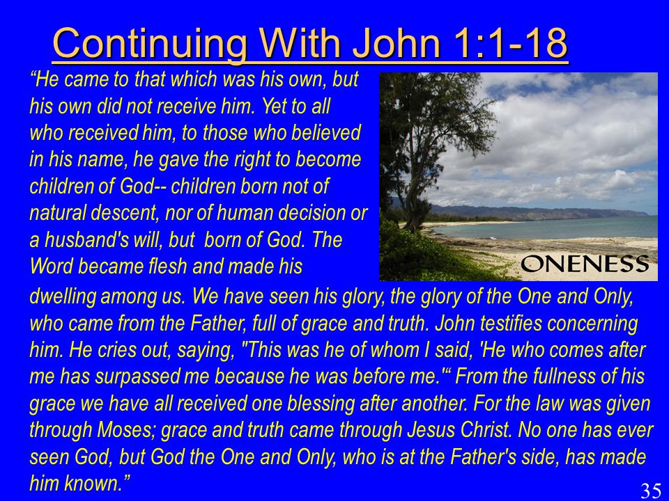 Continuing With John 1:1-18