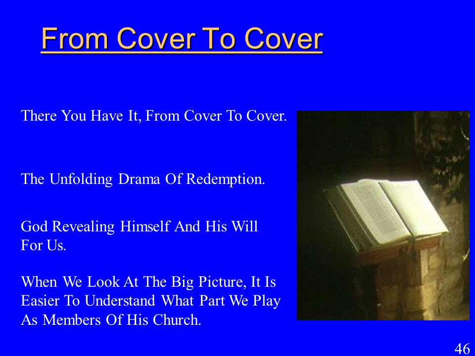 From Cover To Cover There You Have It, From Cover To Cover.