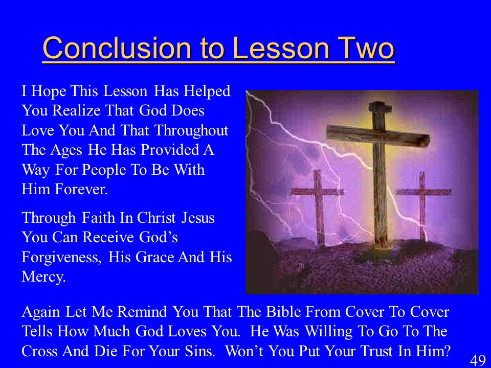 Conclusion to Lesson Two
