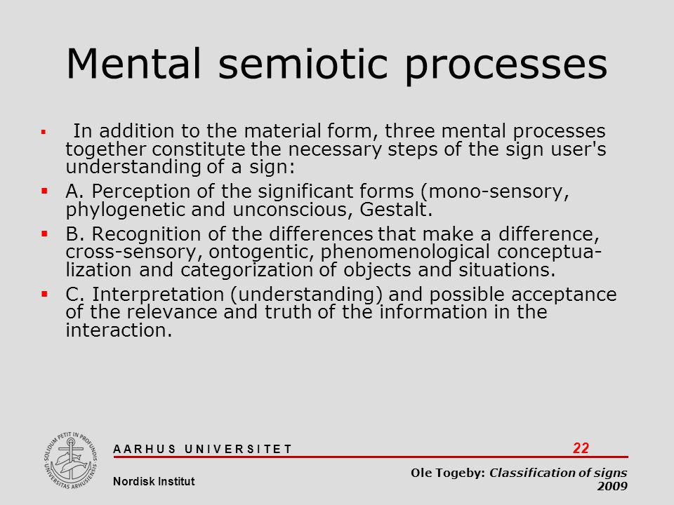 Mental semiotic processes