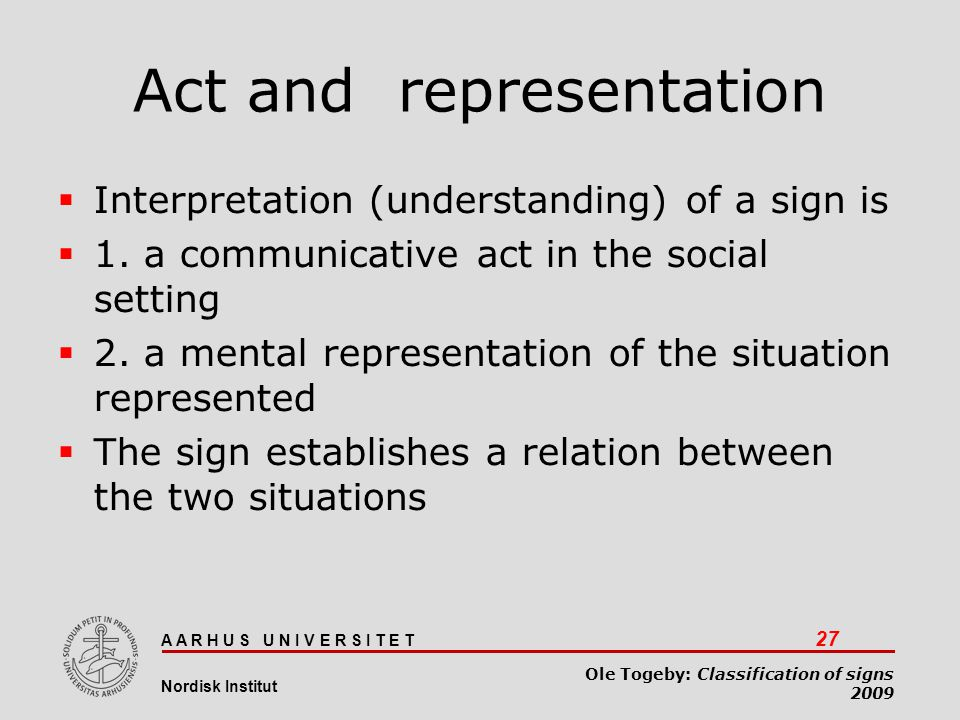 Act and representation