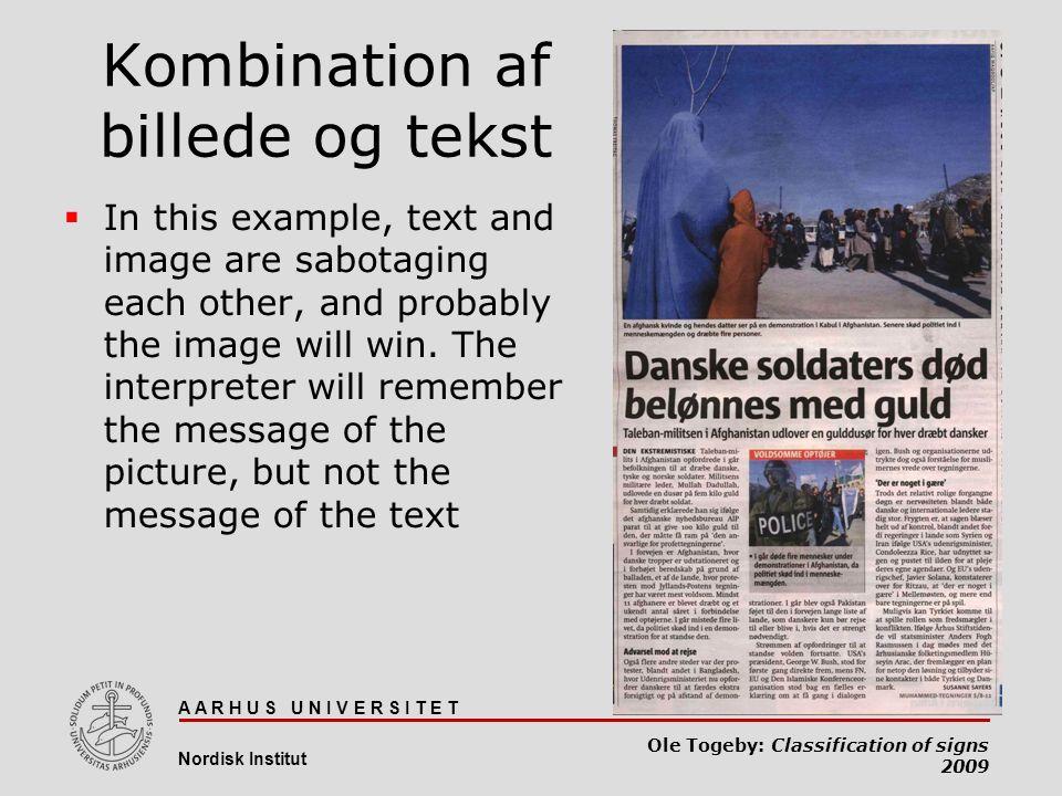 Kombination af billede og tekst
