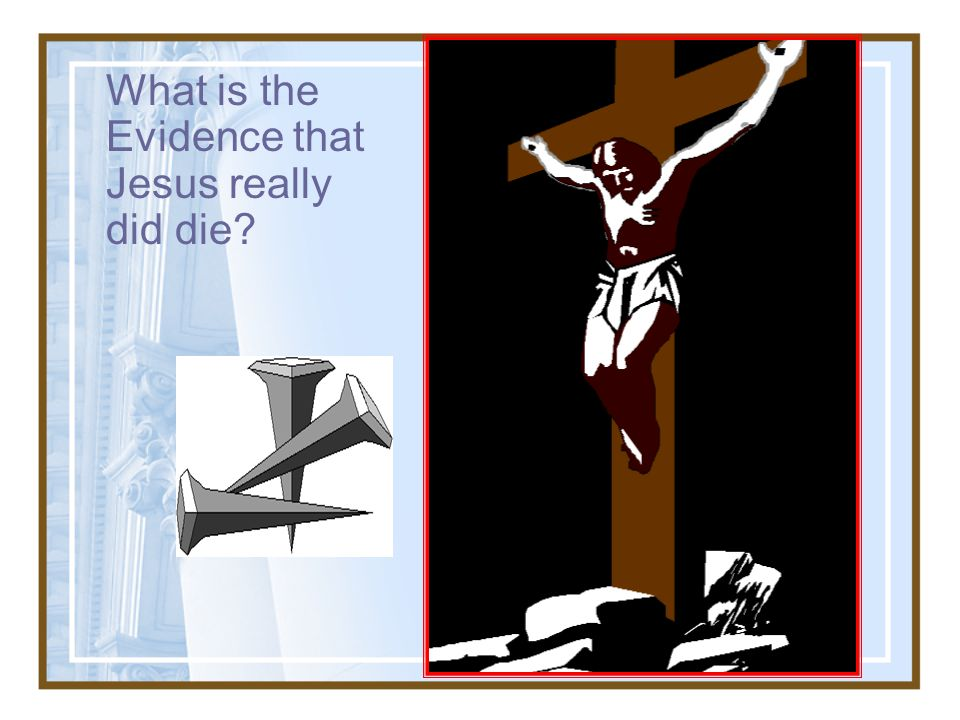 What is the Evidence that Jesus really did die