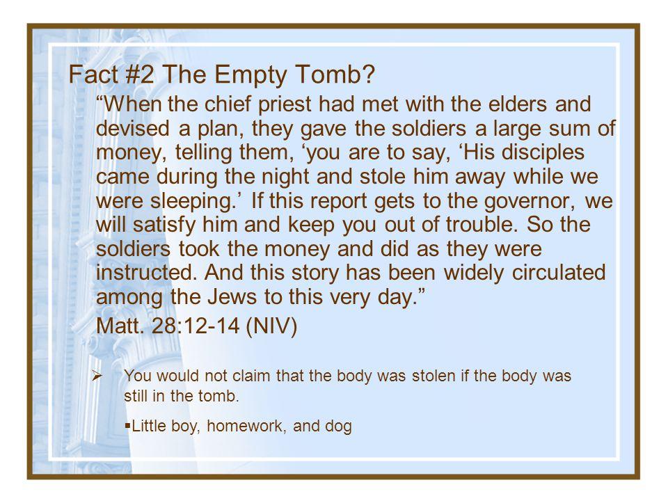 Fact #2 The Empty Tomb