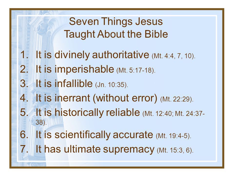 Seven Things Jesus Taught About the Bible