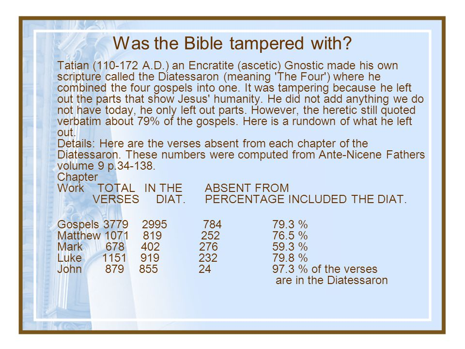 Was the Bible tampered with