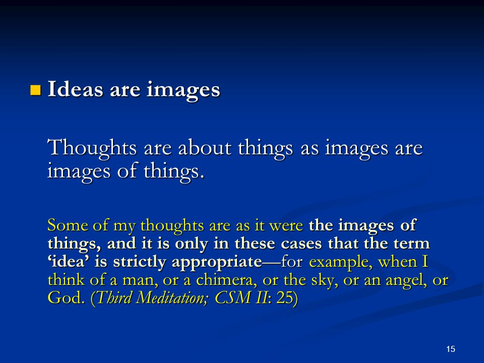 Thoughts are about things as images are images of things.