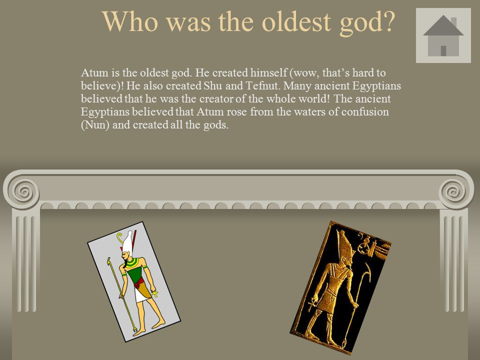 Who was the oldest god