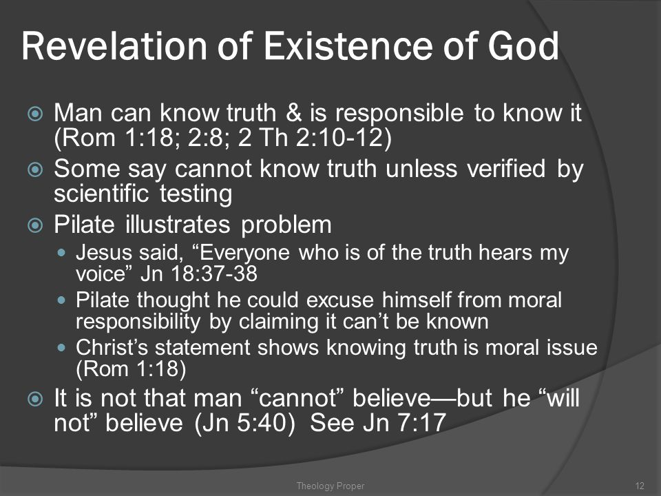 Revelation of Existence of God