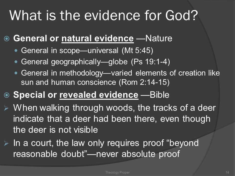 What is the evidence for God