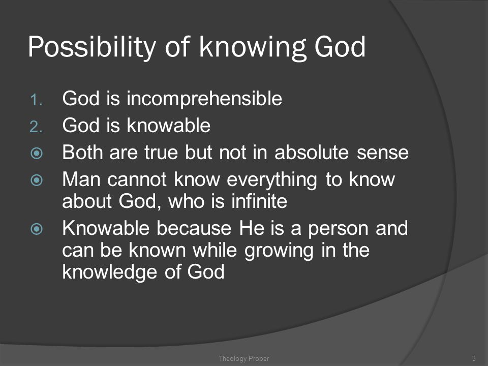 Possibility of knowing God