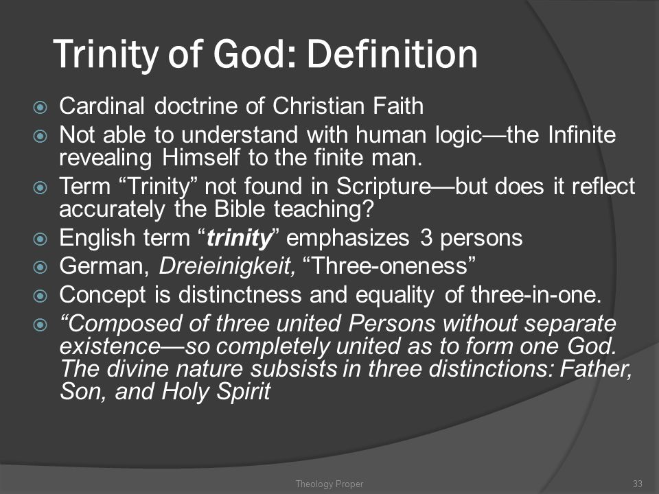 Trinity of God: Definition