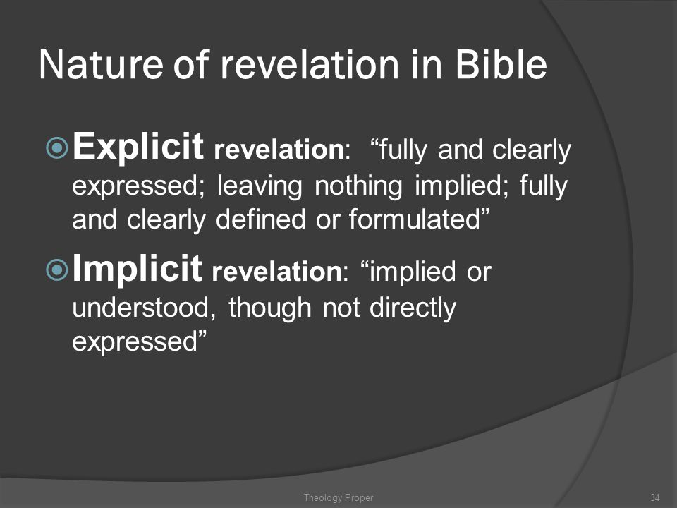 Nature of revelation in Bible