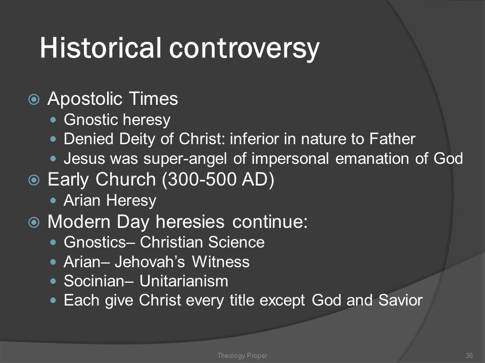 Historical controversy