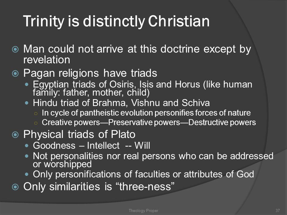 Trinity is distinctly Christian