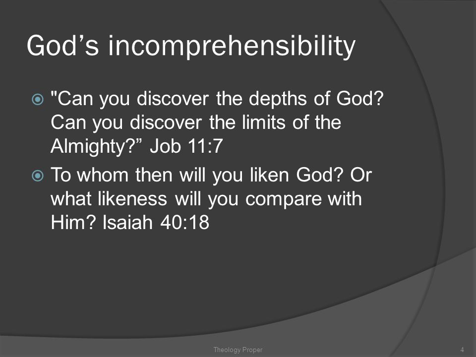 God's incomprehensibility