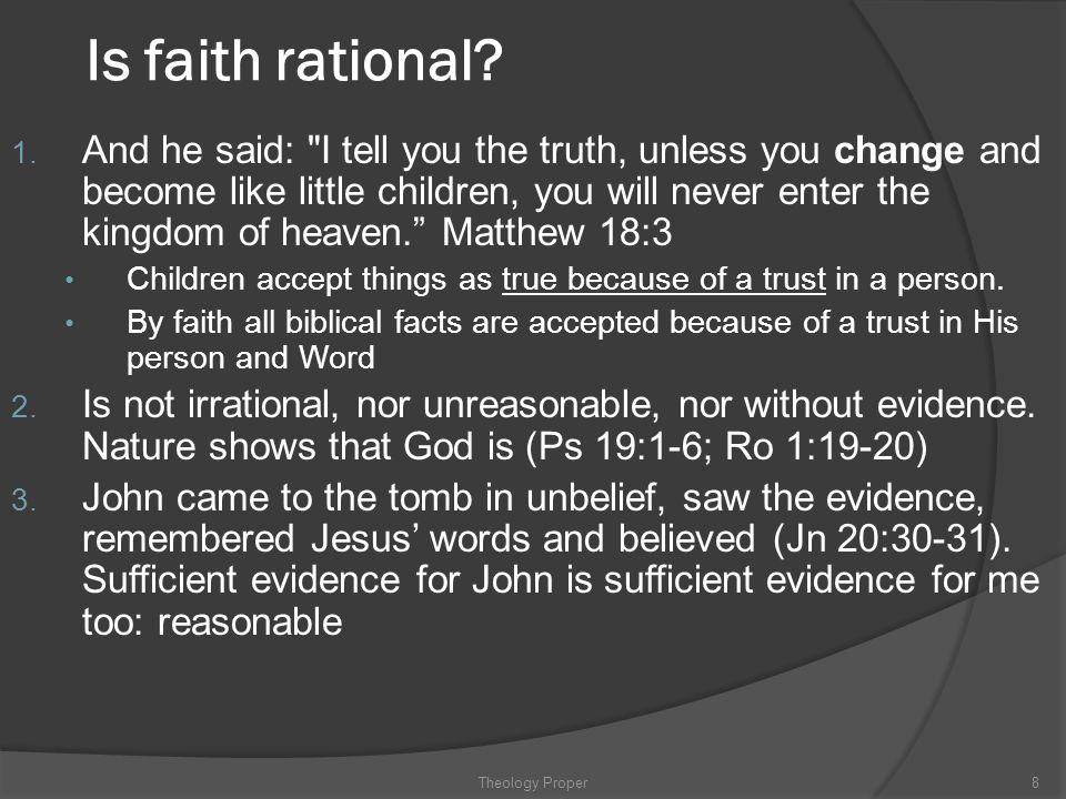 Is faith rational