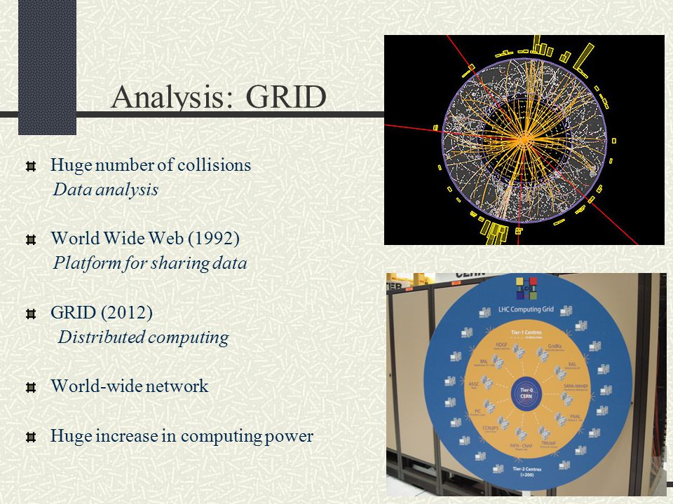 Analysis: GRID Huge number of collisions Data analysis
