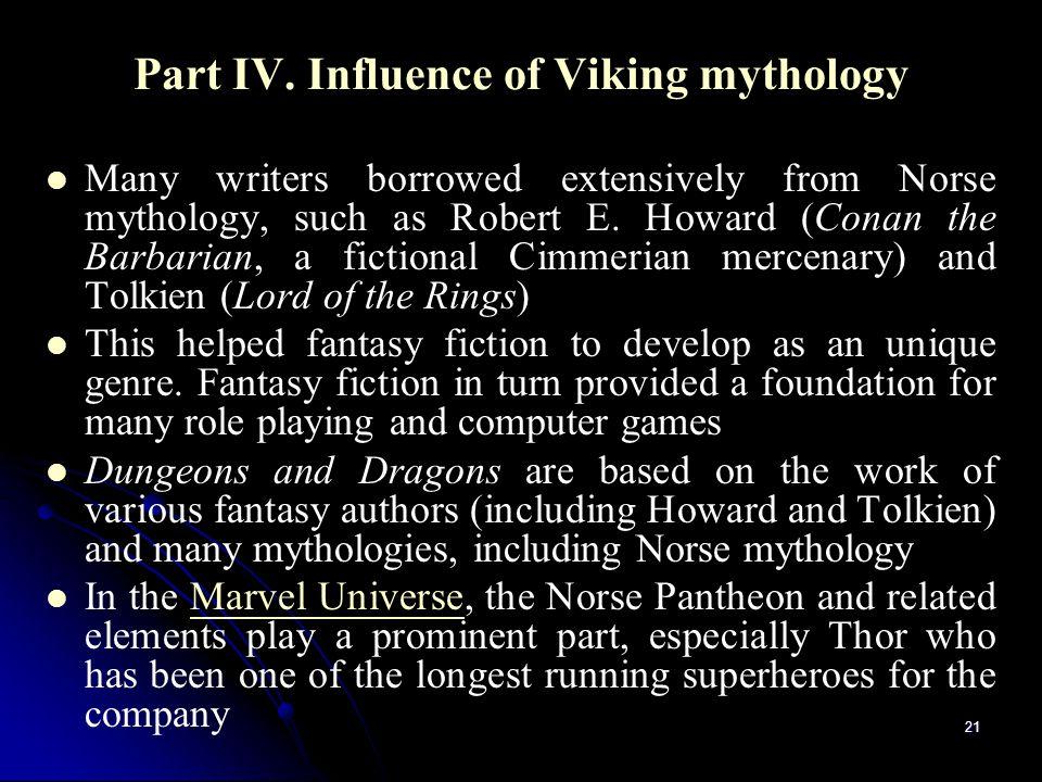 Part IV. Influence of Viking mythology