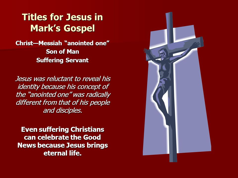 Titles for Jesus in Mark's Gospel