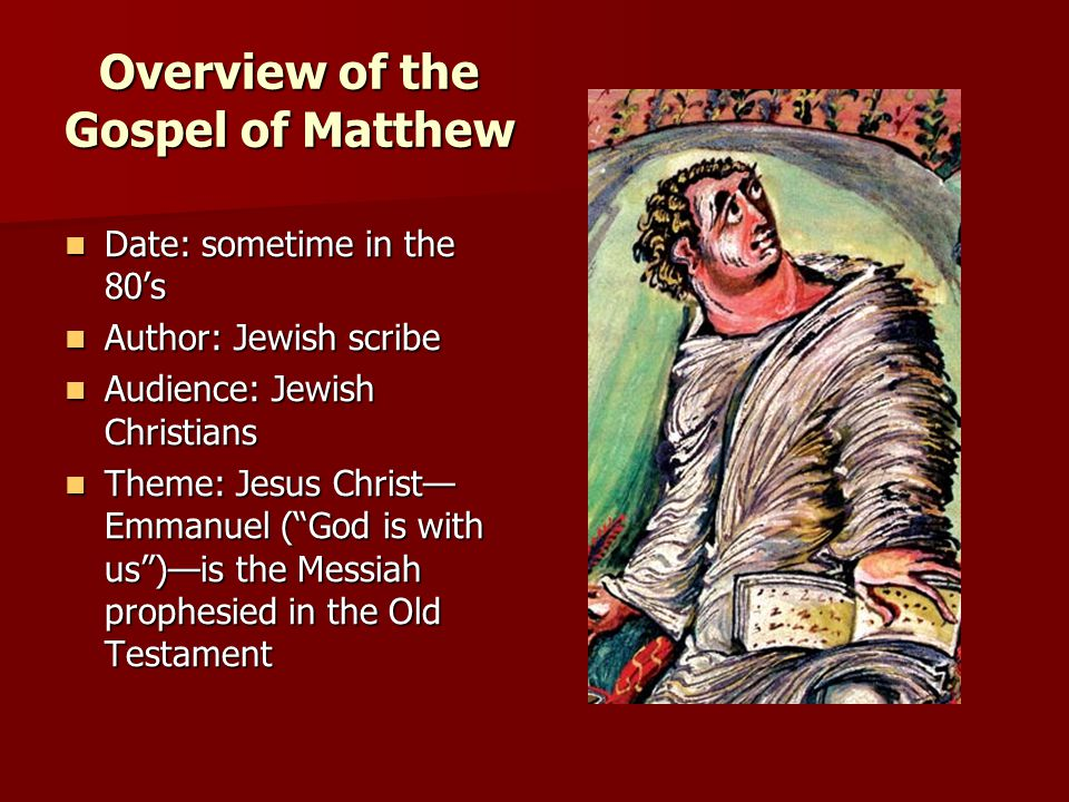 Overview of the Gospel of Matthew