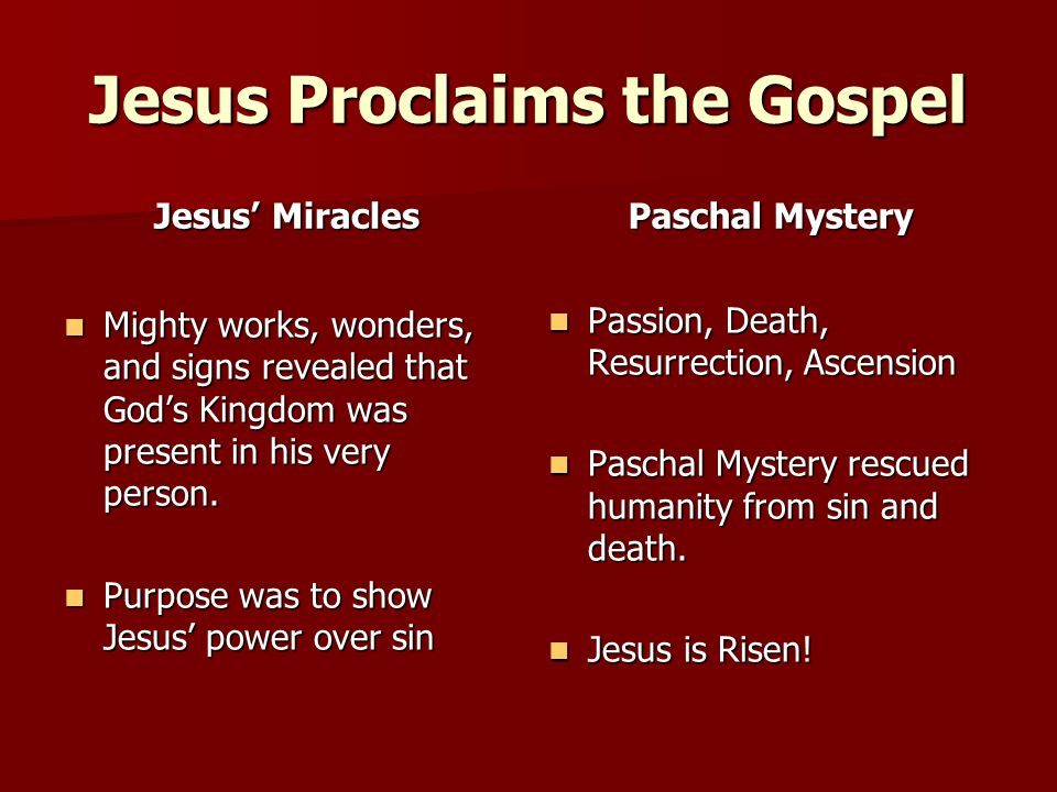Jesus Proclaims the Gospel