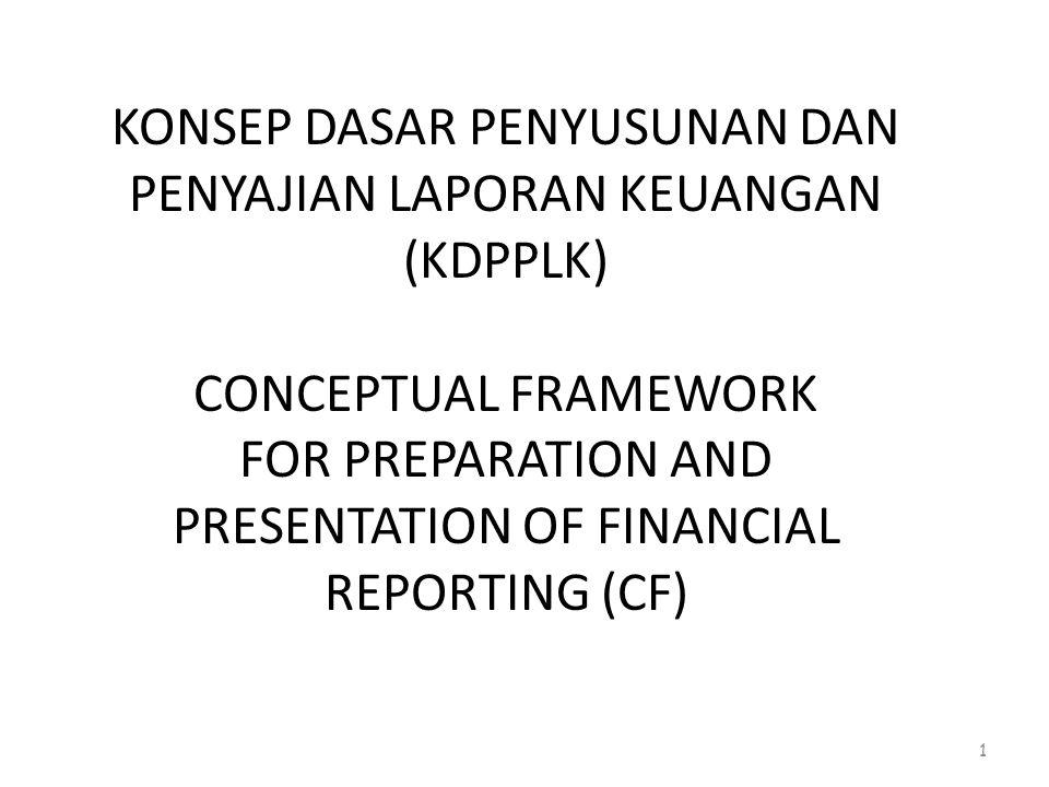 KONSEP DASAR PENYUSUNAN DAN PENYAJIAN LAPORAN KEUANGAN (KDPPLK) CONCEPTUAL FRAMEWORK FOR PREPARATION AND PRESENTATION OF FINANCIAL REPORTING (CF)