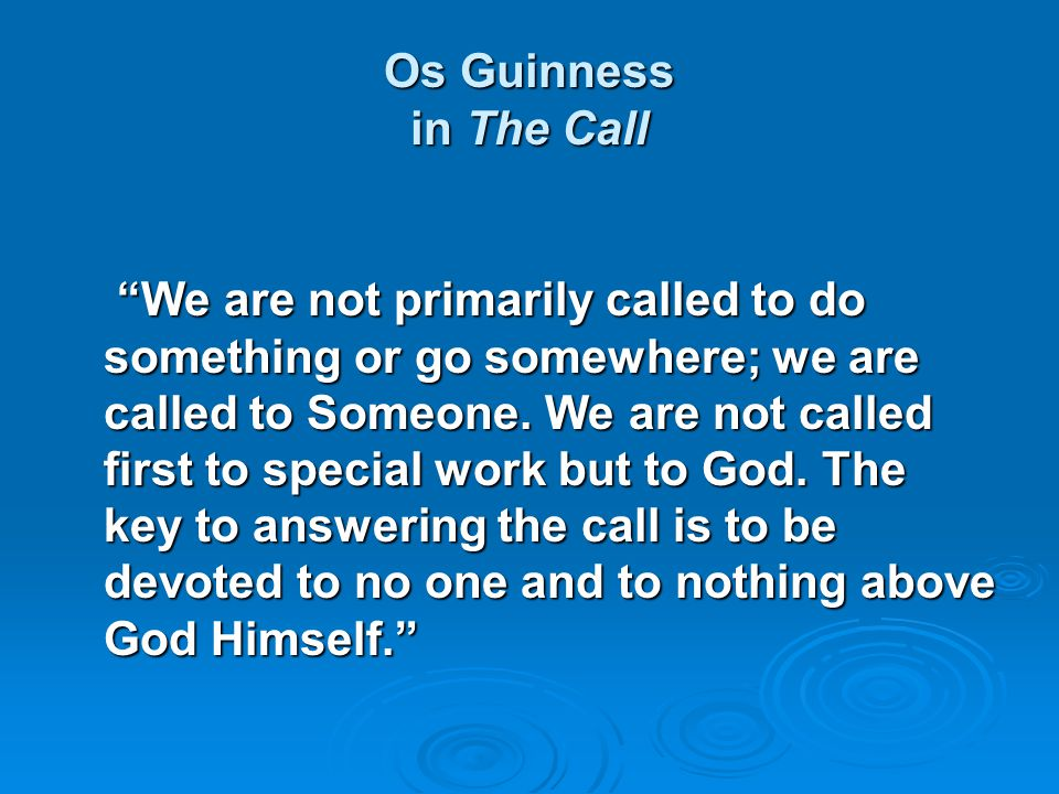 Os Guinness in The Call