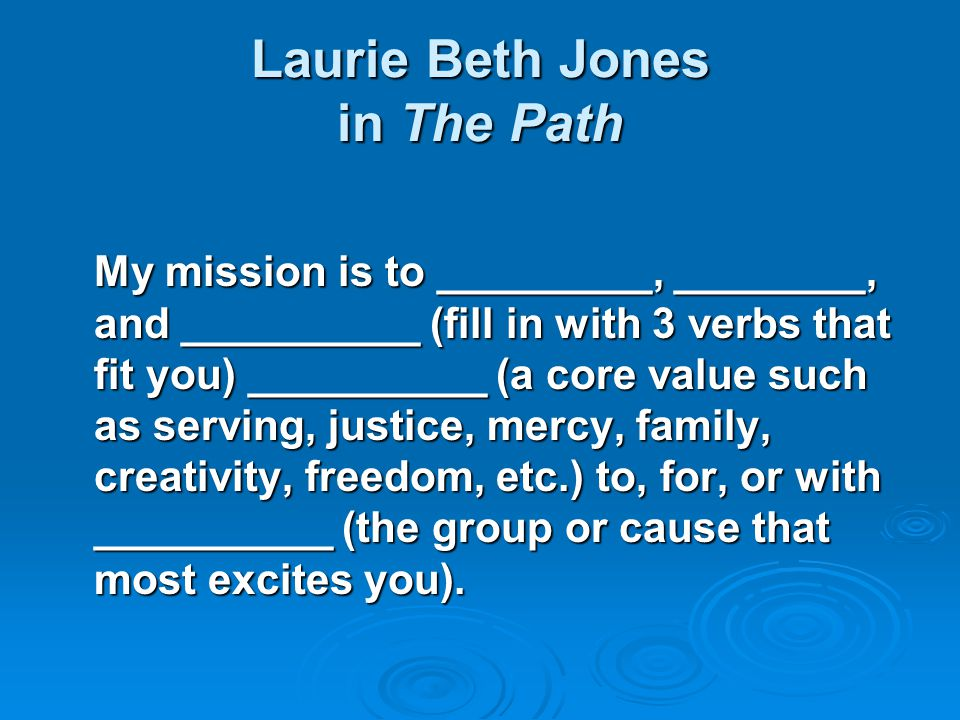 Laurie Beth Jones in The Path