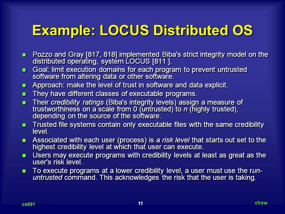 Example: LOCUS Distributed OS