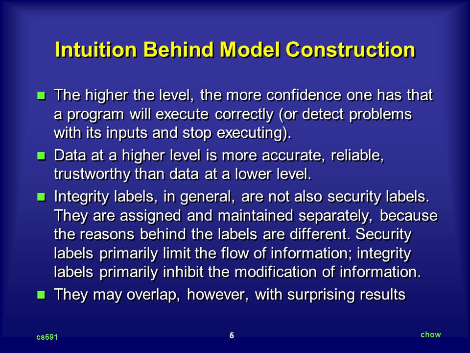 Intuition Behind Model Construction