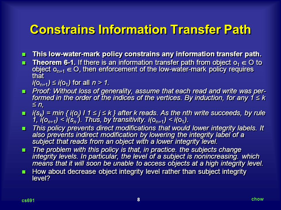 Constrains Information Transfer Path