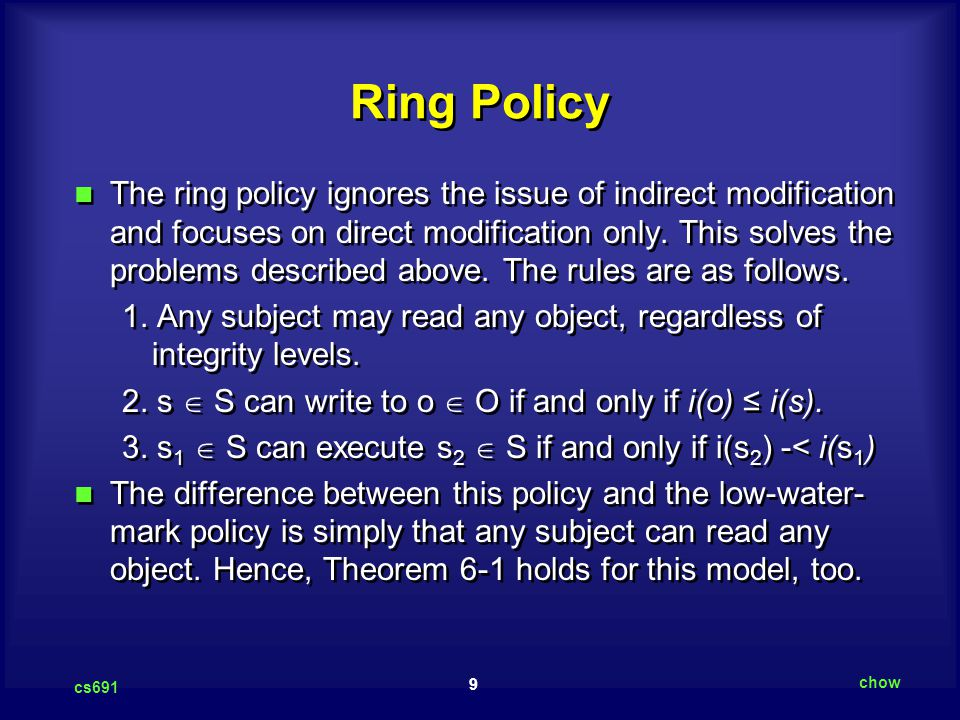 Ring Policy