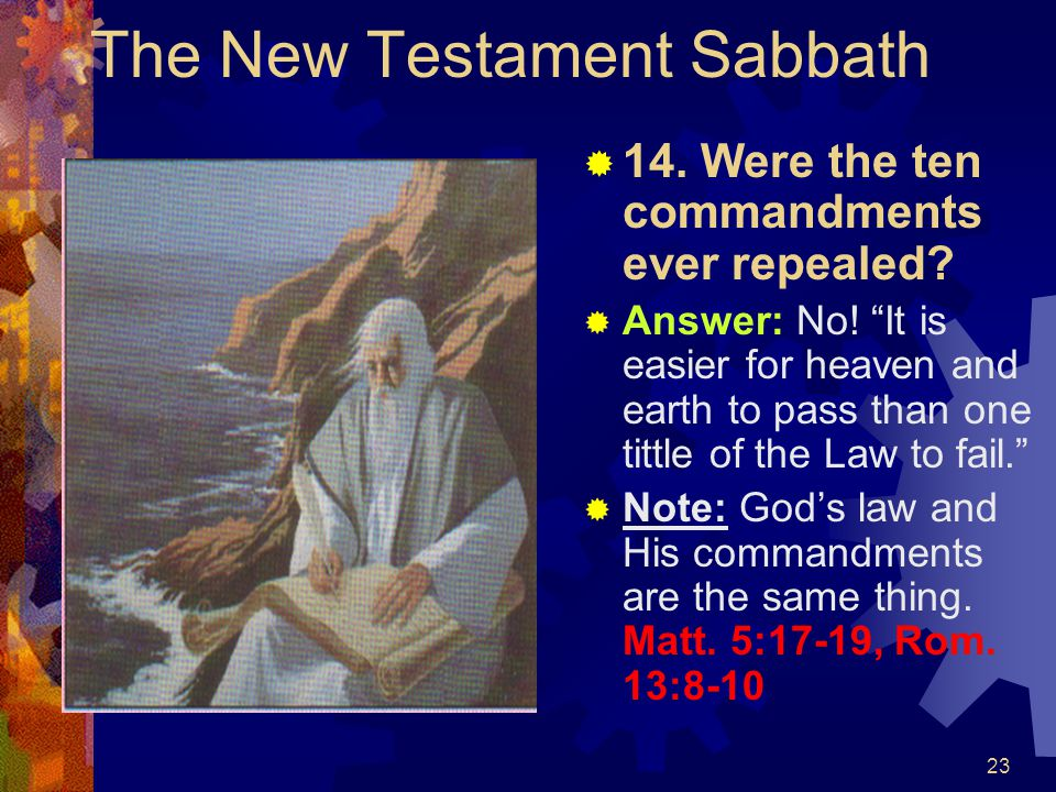 The New Testament Sabbath