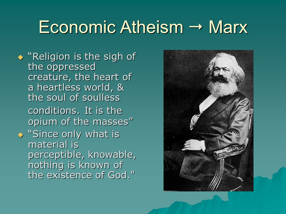 Economic Atheism  Marx