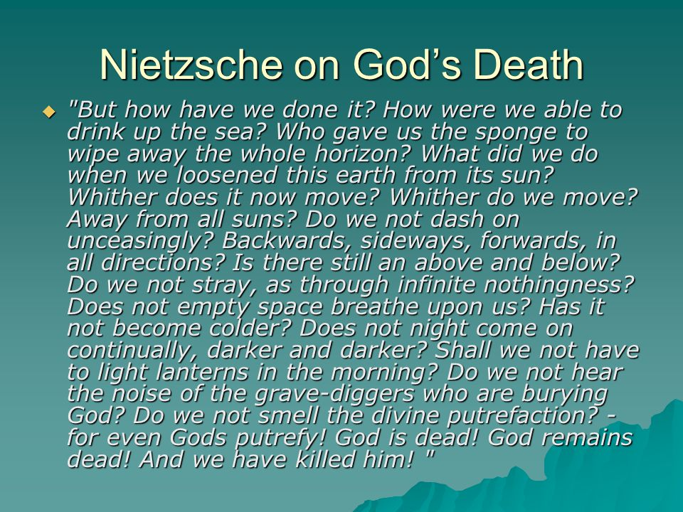 Nietzsche on God's Death