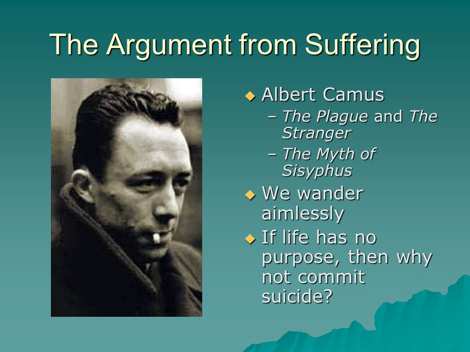 The Argument from Suffering