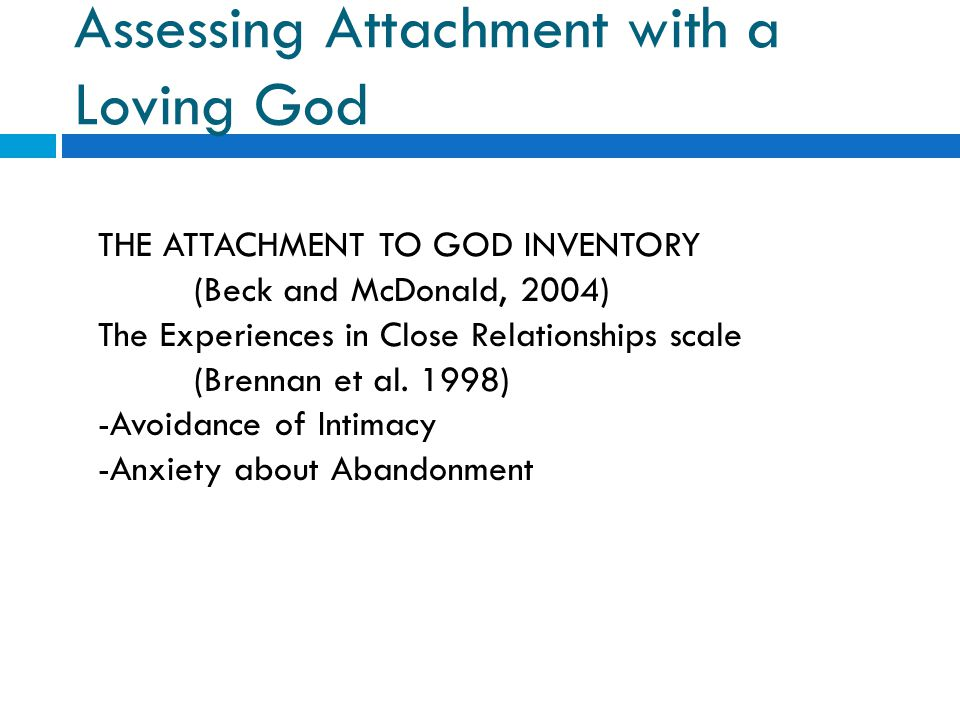 Assessing Attachment with a Loving God