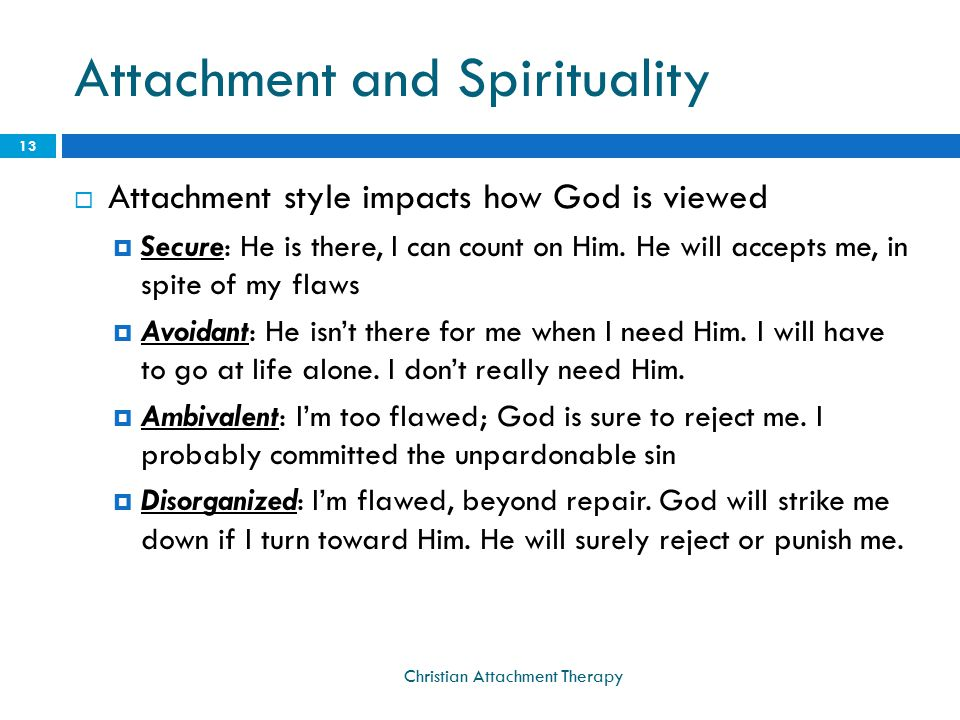 Attachment and Spirituality