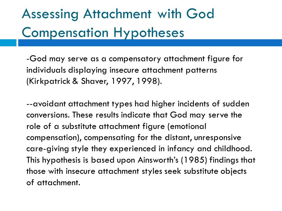 Assessing Attachment with God Compensation Hypotheses