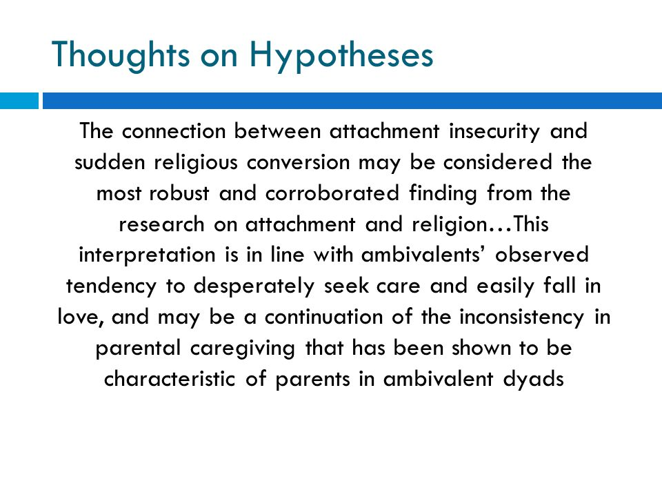 Thoughts on Hypotheses