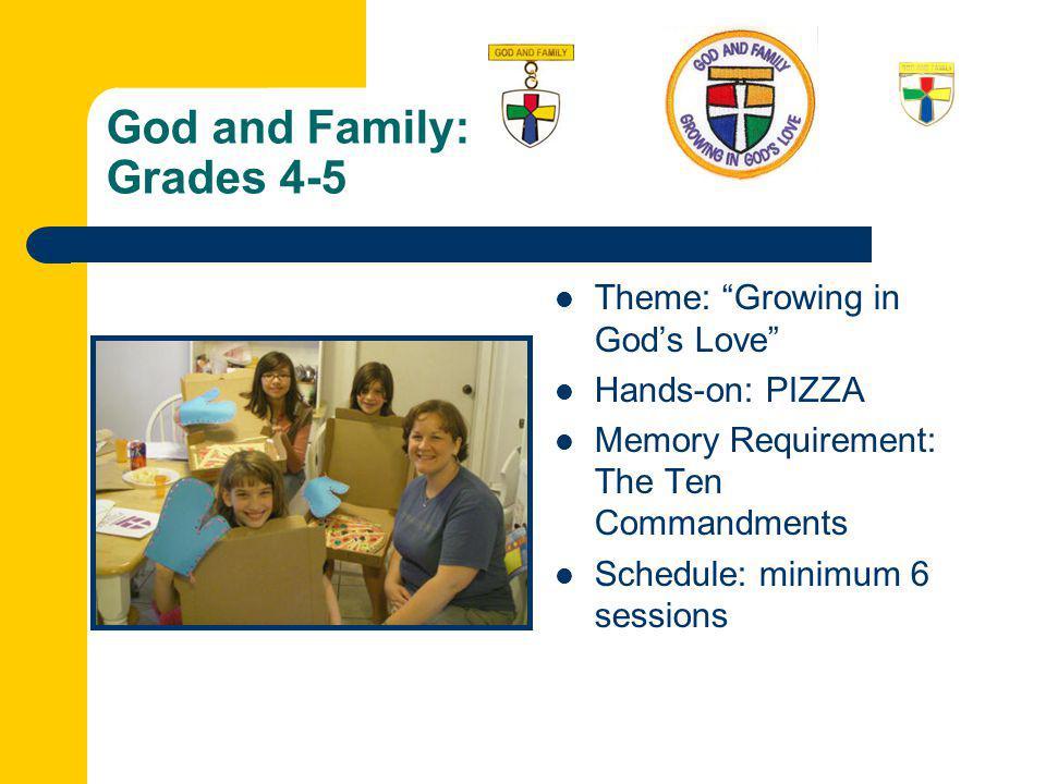 God and Family: Grades 4-5