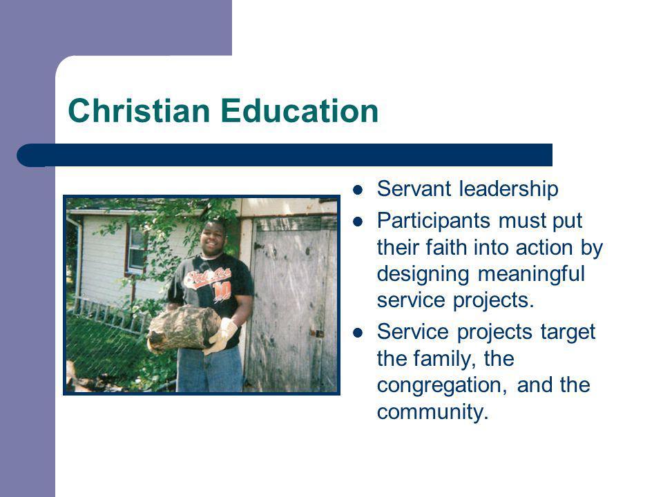 Christian Education Servant leadership