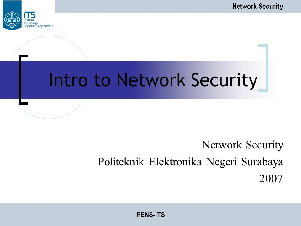 Intro to Network Security