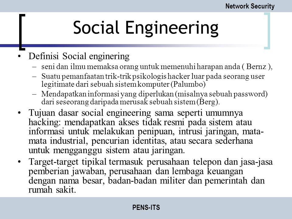 Social Engineering Definisi Social enginering