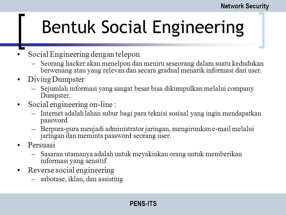 Bentuk Social Engineering