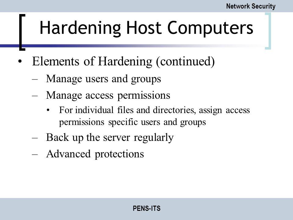 Hardening Host Computers