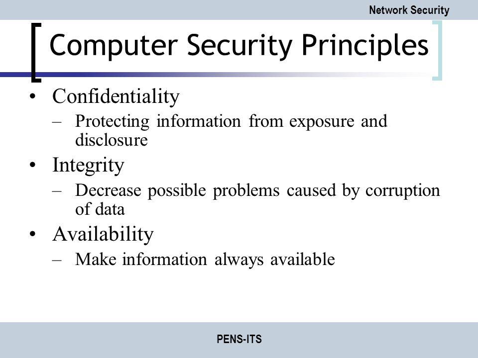 Computer Security Principles