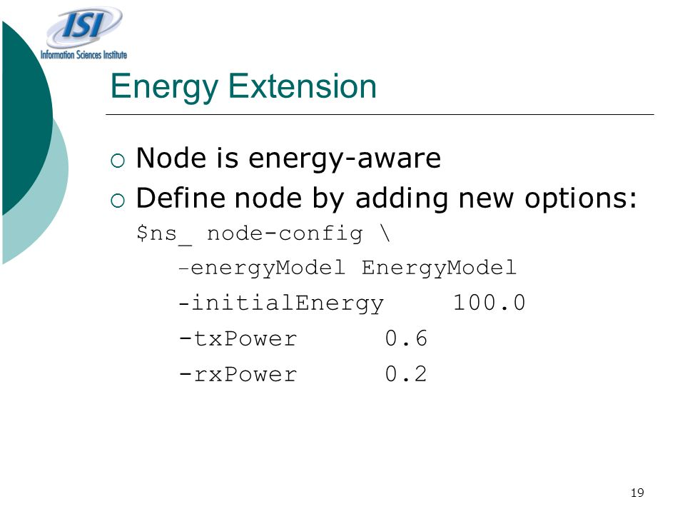 Energy Extension Node is energy-aware