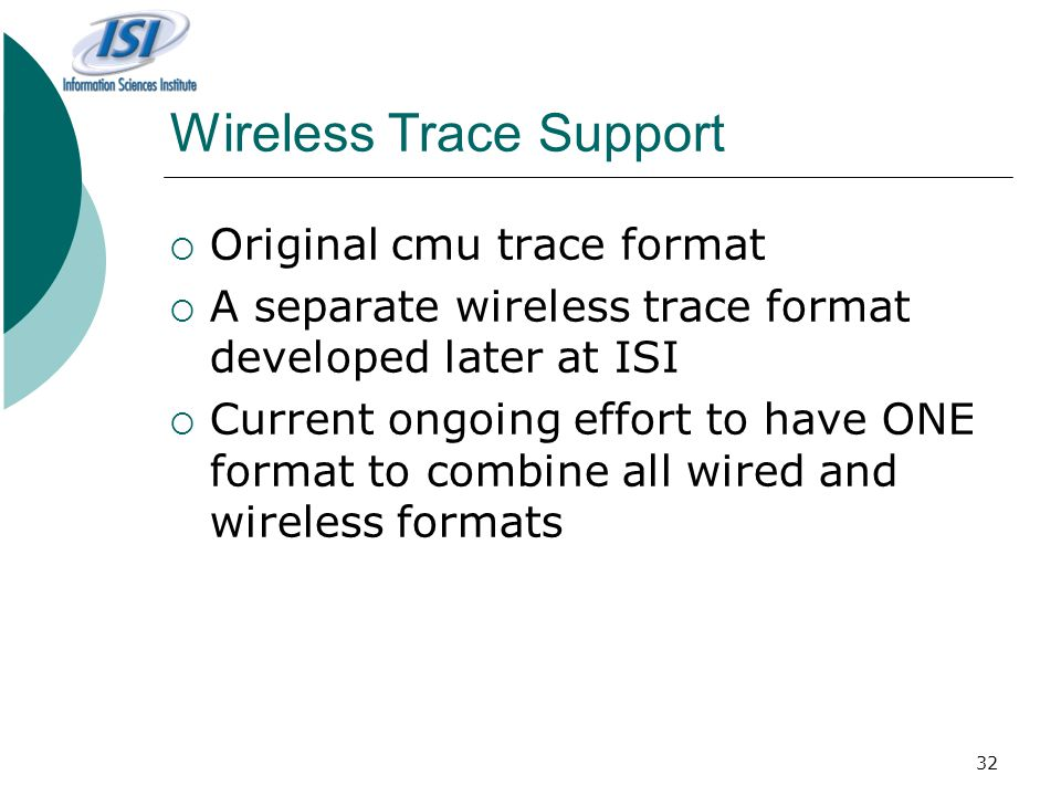 Wireless Trace Support